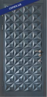 Модель 50. МДФ. RAL 7026 - Входные двери