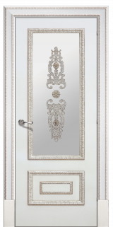 Доже 2 со стеклом - Межкомнатные двери, Окрашенные двери